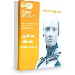 ESET NOD 32 SMART SECURITY  سه کاربره  یک ساله